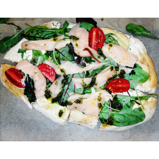 Пицца Римская с лососем
